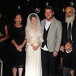 המשפחה הנרגשת בטקס החופה. מזל טוב