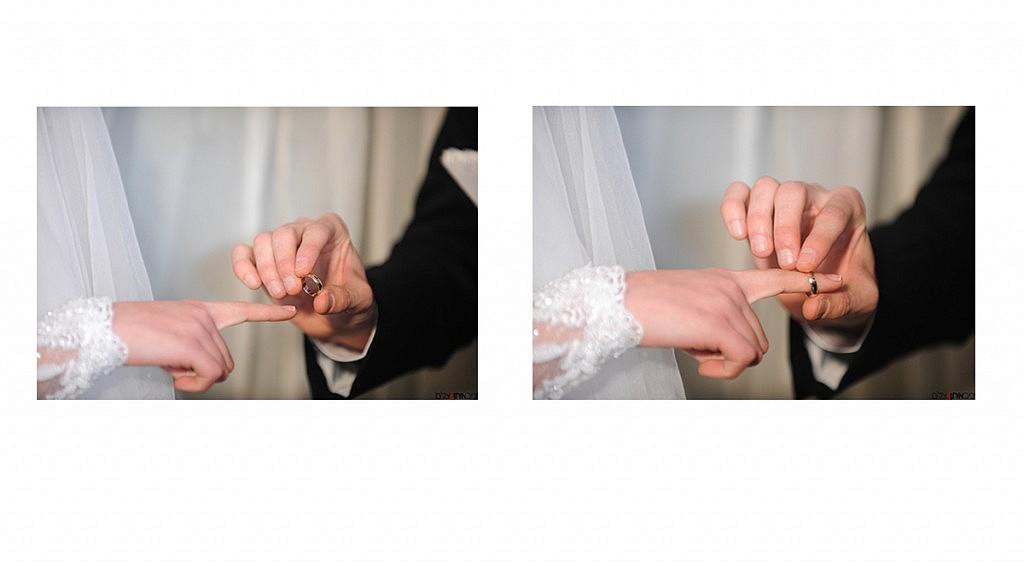 טקס החופה בחתונה דתית - בטבעת זאת הרי את מקודשת לי