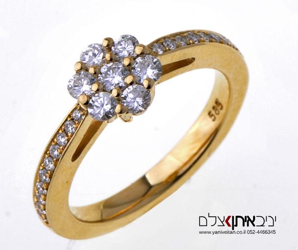 צילום טבעת יהלומים לחברת תכשיטים בתל אביב