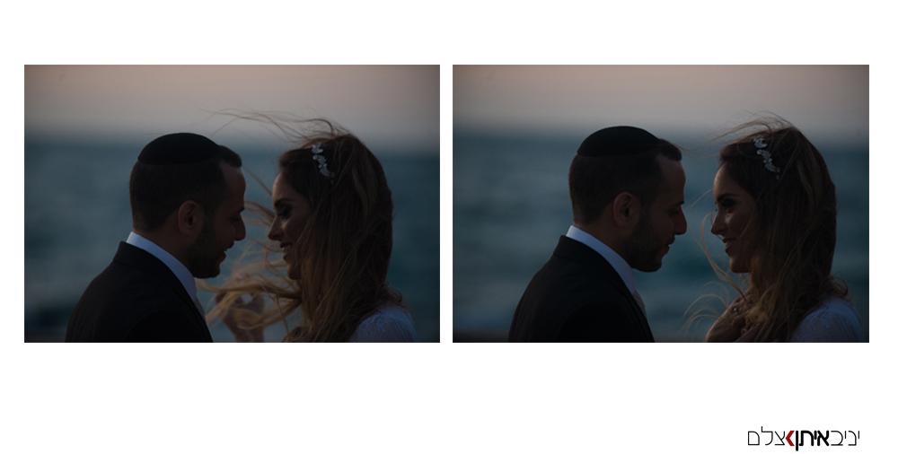 שקיעה רומנטית ביפו העתיקה - צילומי חתונה לדתיים
