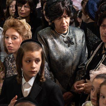 התרגשות בעזרת הנשים בטקס החופה