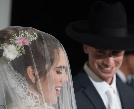 רגעי שמחה ואושר של הזוג החרדי